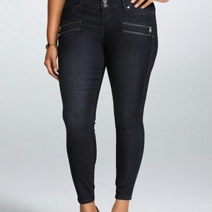 Torrid Dark Wash w/ Zipper Embellishments Jeggings